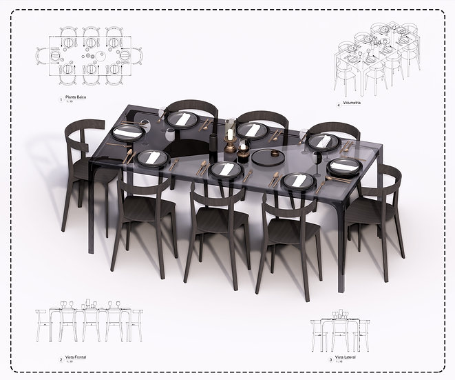 Table + Chair Revit 8 High Quality