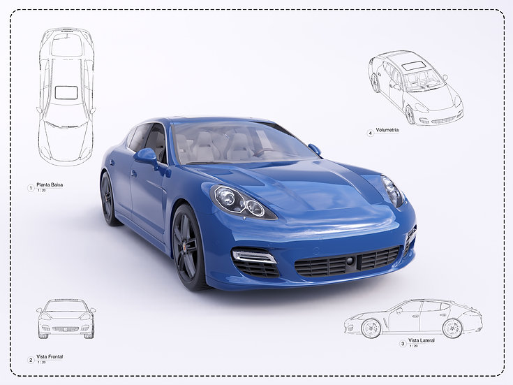 Porshe Panamera Revit High Quality