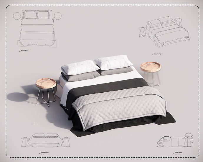 Bed Revit 29 High Quality