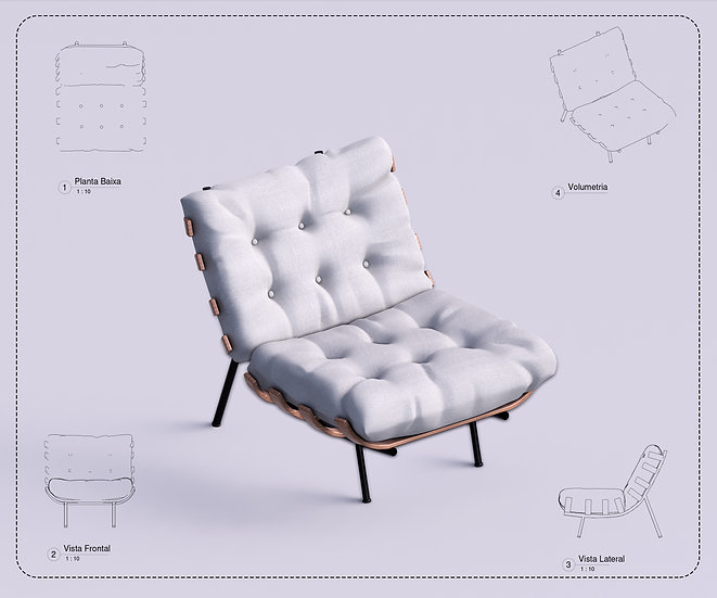 Armchair Revit 40 High Quality