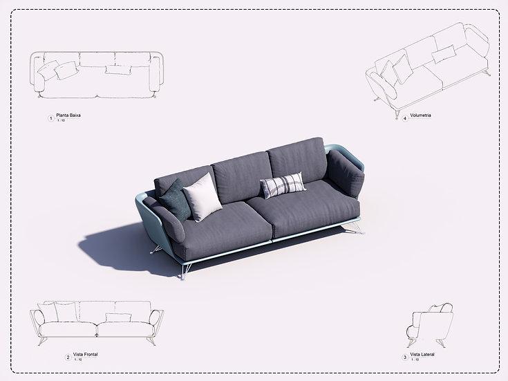 Sofa Revit 18 High Quality