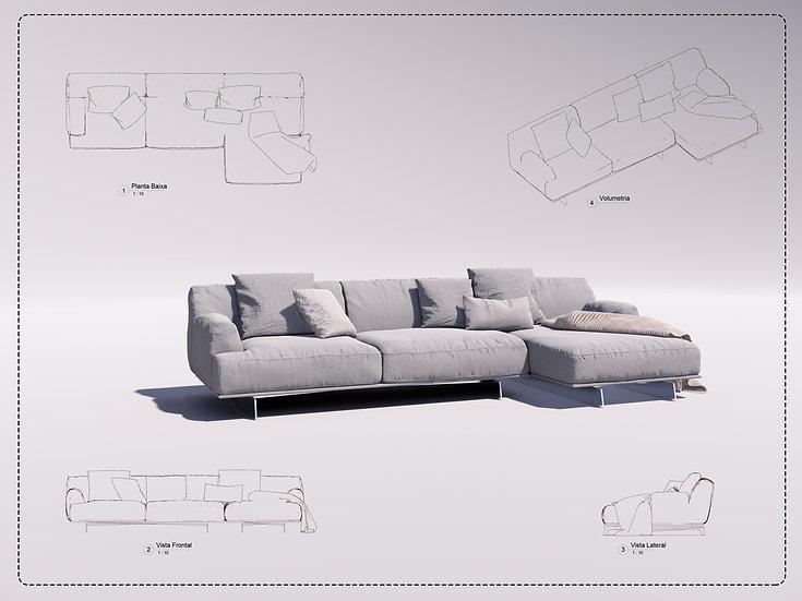 Sofa Revit 31 High Quality