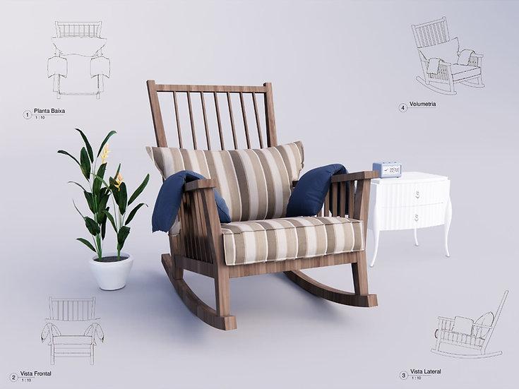Armchair Revit 18 High Quality