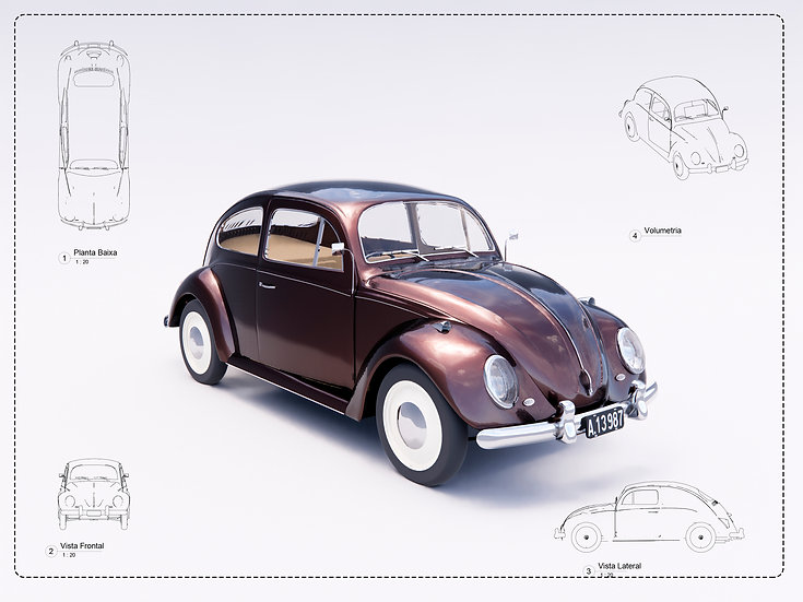 Fusca or beetle Revit High Quality