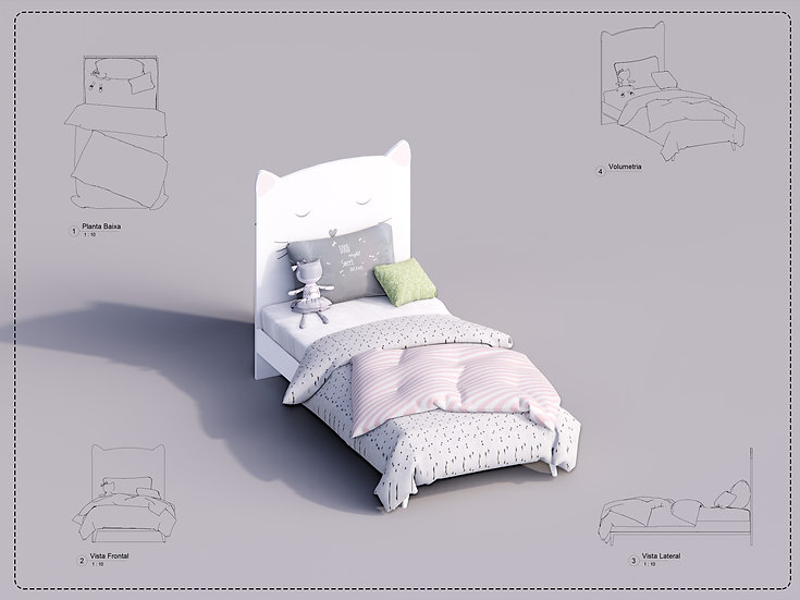 Bed Single Revit 03 High Quality