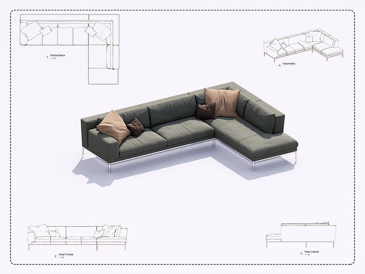 Sofa Revit 14 High Quality
