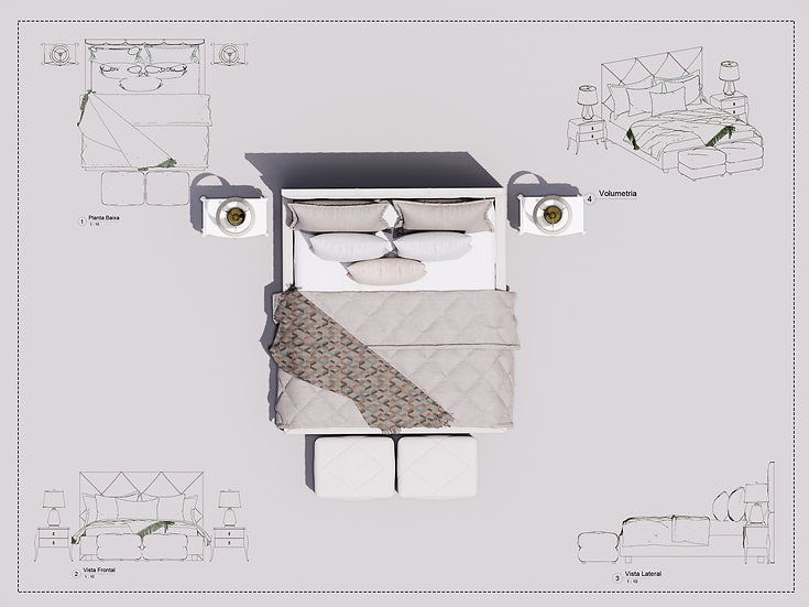 Bed Revit 22 High Quality
