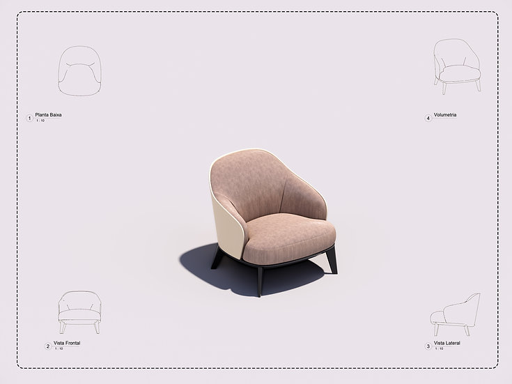 Armchair Revit 25 High Quality
