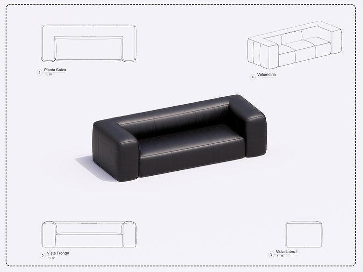 Sofa Revit 10 High Quality