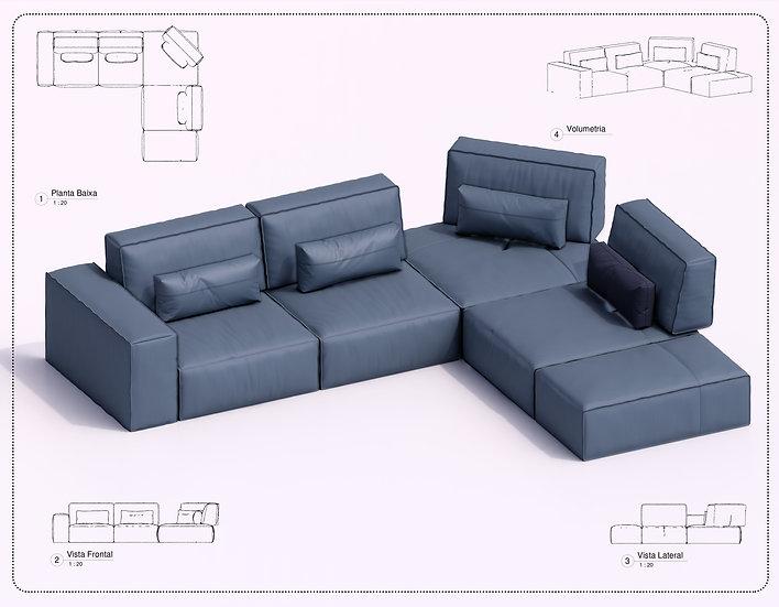 Sofa Revit 55 High Quality