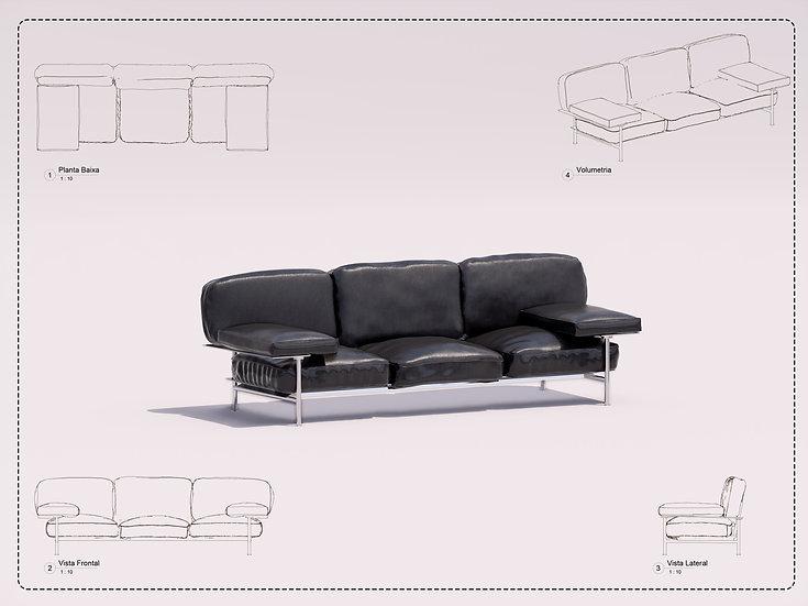 Sofa Revit 7 High Quality