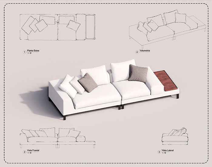 Sofa Revit 43 High Quality