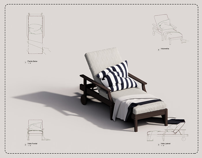 Outdoor Armchair Revit 02 High Quality