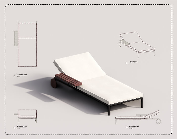 Outdoor Armchair Revit 01 High Quality