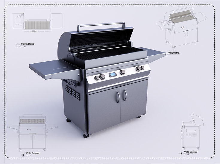 Barbecue Grill Revit High Quality