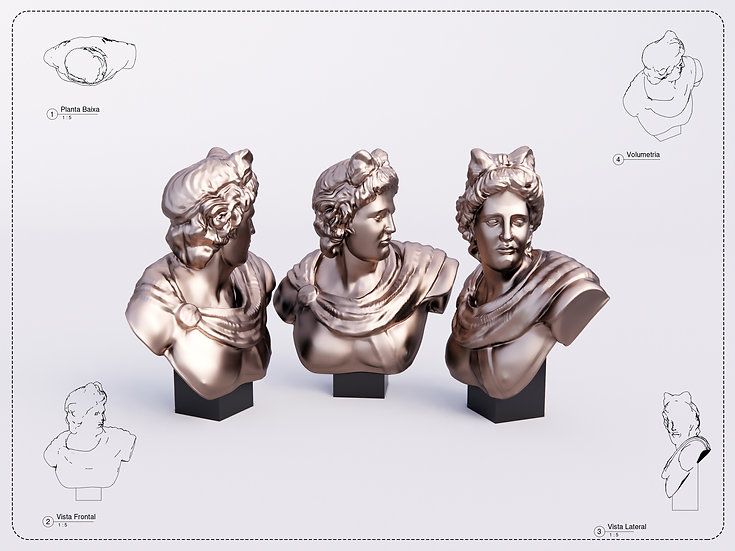 Sculpture Apolo Revit High Quality