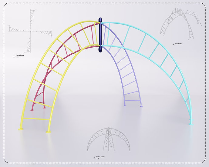 Playground Twisted Ladder Revit High Quality