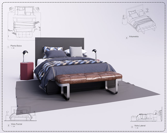 Kit Bed Revit 30 High Quality