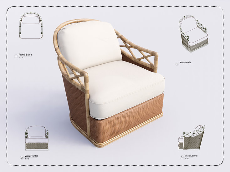 Armchair Revit 43 High Quality