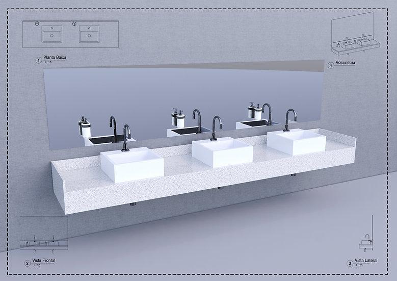 Parametric G Commercial Bathroom Sink High Quality
