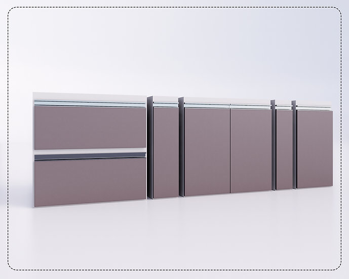 Kit MDF Perfil Puxador 1 Revit High Quality