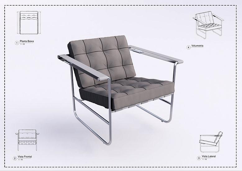 Armchair Revit 49 High Quality