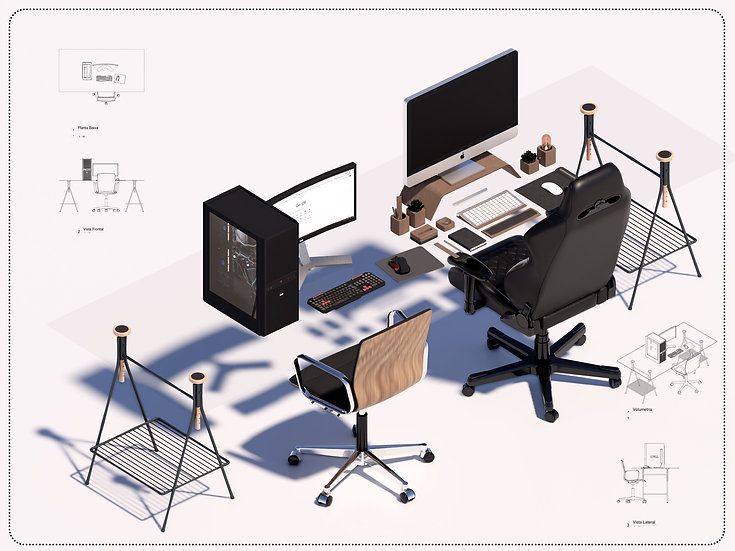 Set Desk Parametric  High Quality