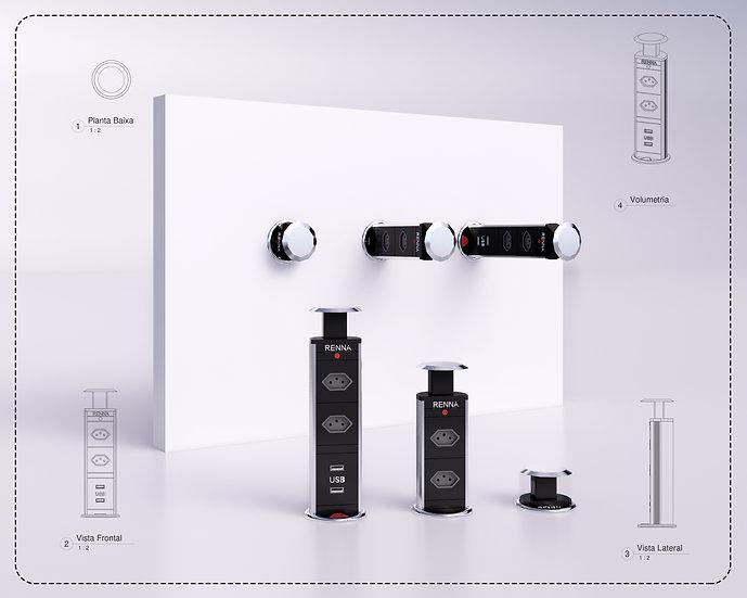 Power Plug Parametrized Revit High Quality