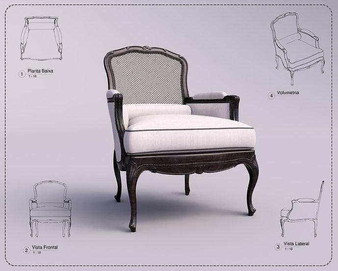Armchair Revit 38 High Quality