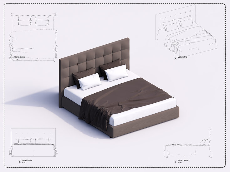 Bed Revit 27 High Quality