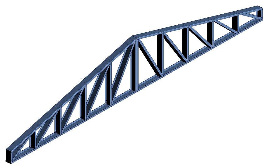 Parametrics Treliça perfil U Único 2 águas High Quality