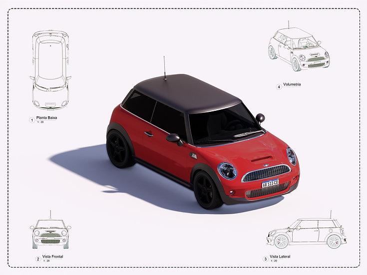 Car Mini Cooper Revit High Quality