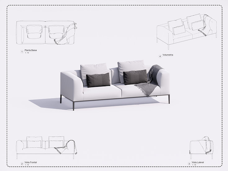 Sofa Revit 11 High Quality