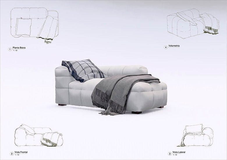 Sofa Revit 27 High Quality