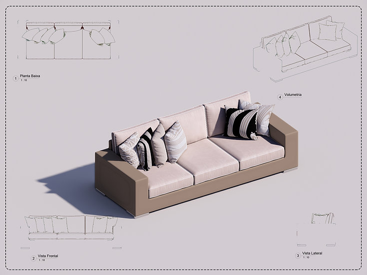 Sofa Revit 32 High Quality