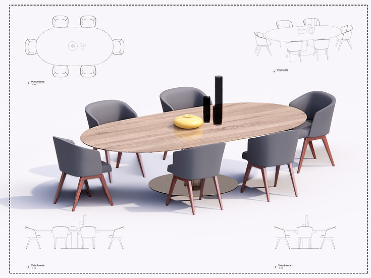 Table + Chair Revit 4 High Quality