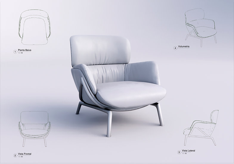 Armchair Revit 21 High Quality
