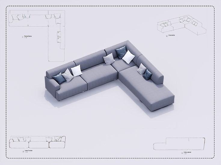Sofa Revit 15 High Quality