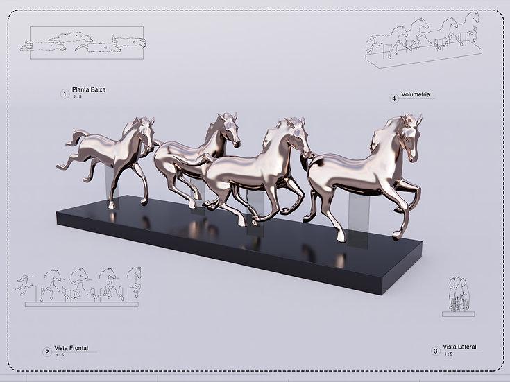 Sculpture Horse High Quality