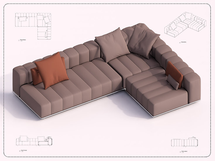 Sofa Revit 57 High Quality