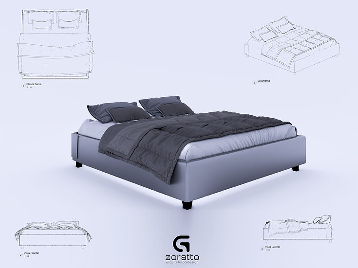 Bed Revit 4 High Quality
