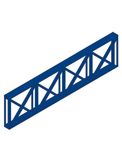 Parametrics Viga Horizontal Treliçada Com Teias Diagonais Cruzadas High Quality