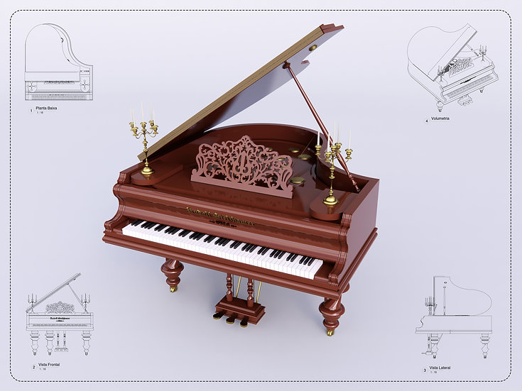 Piano Revit High Quality