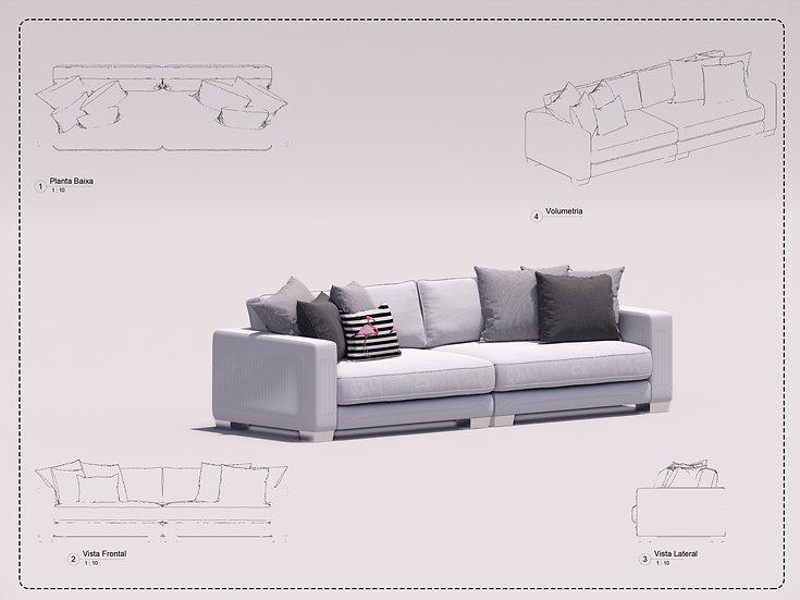 Sofa Revit 24 High Quality