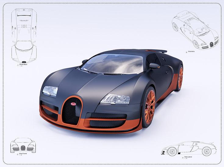 Bugatti Veyron Revit High Quality