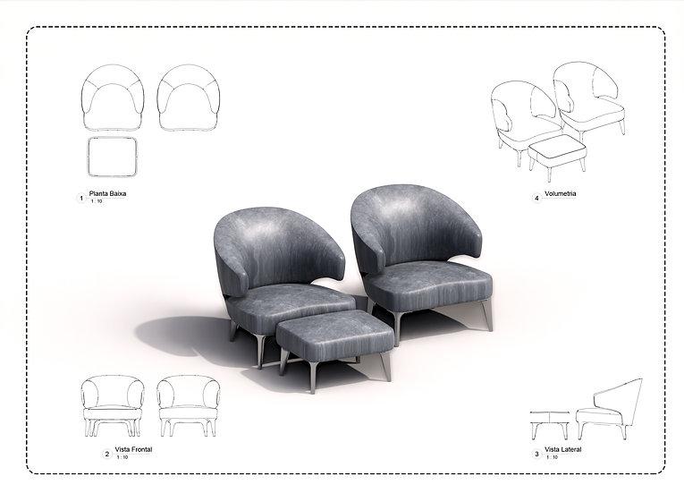Armchair Revit 31 High Quality