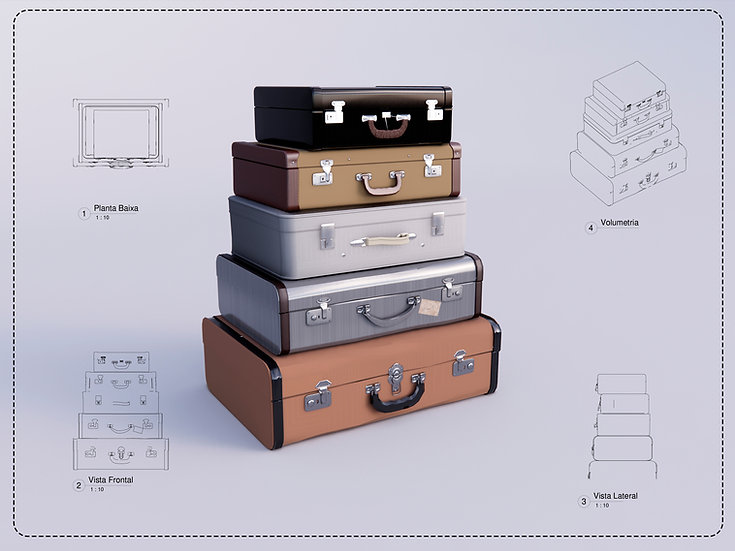 suitcase Revit High Quality