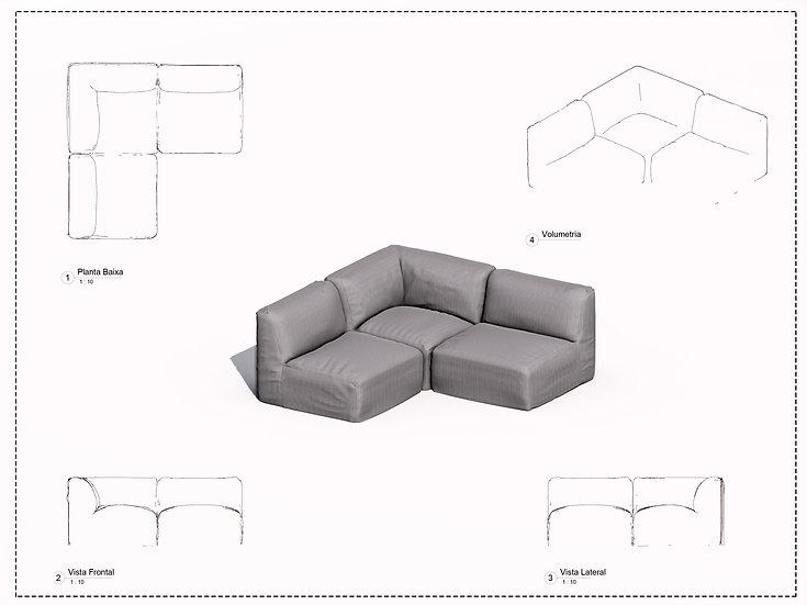 Sofa Revit 5 High Quality