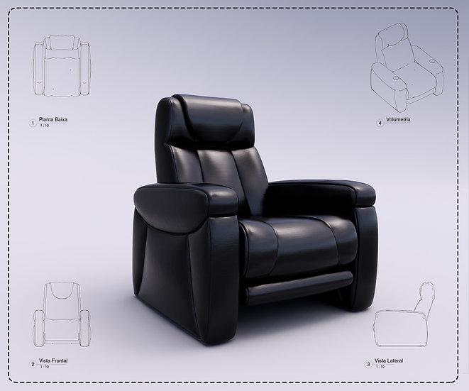 Armchair Revit 35 High Quality