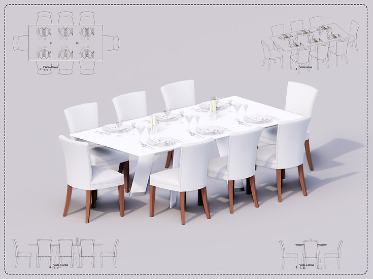 Table + Chair Revit 5 High Quality
